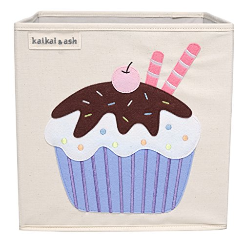 kaikai & ash Chocolate Cupcake Toy Storage Canvas Box and Organizer