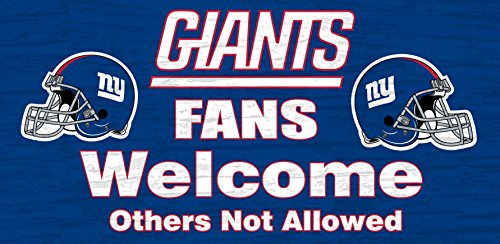 - New York Giants Wood Sign - Fans Welcome 12x6