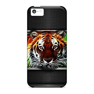 Cute Tpu Mwaerke Big Tiger Case Cover For Iphone 5c by lolosakes