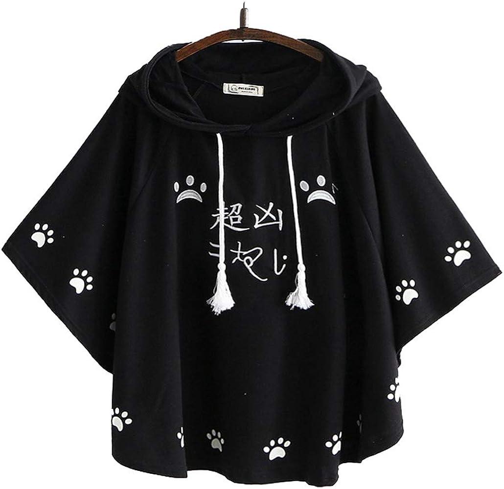 Japanese Overcoat Jacket Sweet Mori Girl Kawaii Cat Print Sweatshirts Coat