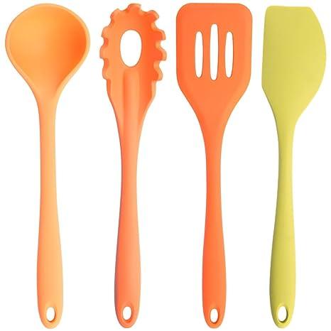 Amazon.com: ROLICONE Silicone Kitchen Cooking Utensil Multicolor 4 ...
