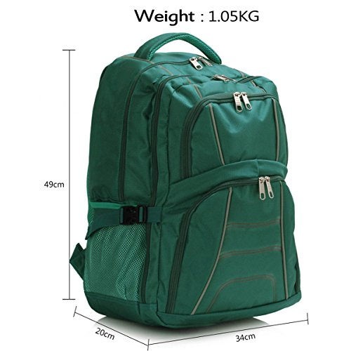 Xardi London - Bolso mochila  de Material Sintético para mujer large verde azulado