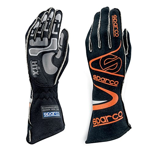 Sparco Arrow RG-7 Racing Gloves 01352A (Size 7, Black/Orange) by Sparco (Image #1)