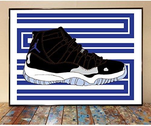 Air Jordan 11 Space Jam Sneaker Art