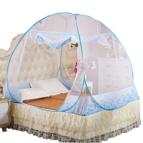 Mosquito Net Bed Canopy,Chartsea Mosquito Nets Bottomed Keeps Away Insects & Flies House Indoor Outdoor Play Tent (Blue(M)) by Chartsea