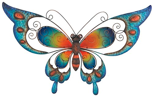 Regal Art & Gift Butterfly Wall Decor, 29-Inch, Blue