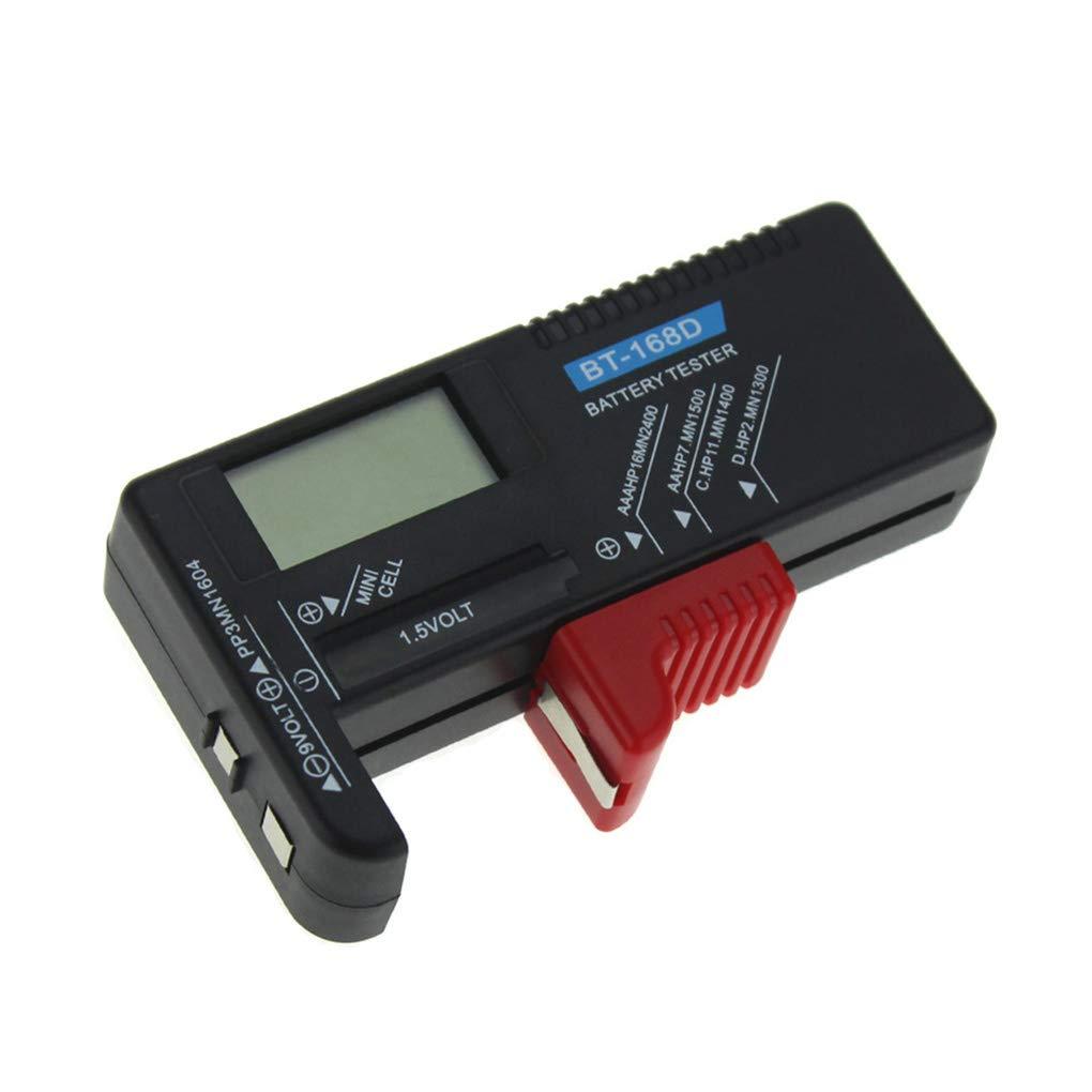 Babysbreath17 BT-168D Digital tester della batteria di Volt Checker 9V 1.5V delle cellule del tasto ricaricabili AAA AA C D universale Test batteria