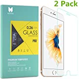 """MouKou iPhone 7 6S 6 Glass Screen Protector 2 Pack Tempered Glass Screen Protectors for iPhone 7 6 6S 4.7"""""""