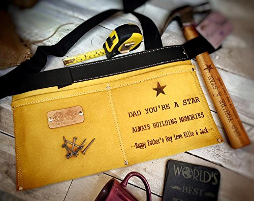 Etched Slate (Personalised Leather Tool And Nail Belt – Etched With Any Message)