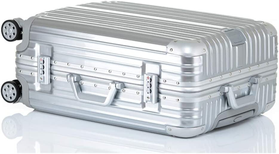 Z/&YY Scratch-Proof Aluminum Frame Trolley case Universal Wheel Luggage Box for Men and Women Students suitcases Color : Silver Mirror, Size : 29 inches 20//22//24//26//29 inches