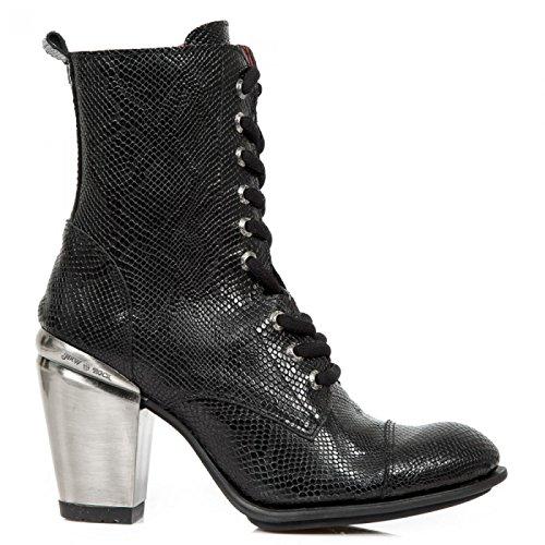 New Rock Handmade M TX010 C3 Schwarz Damen Highheel Stiefelette