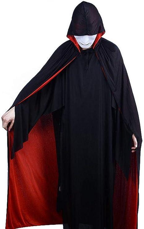 CN Manto de Vampiro Rojo Y Negro Mago Disfraces Disfraces Disfraz ...
