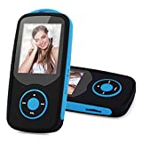 MP3 Player with Bluetooth 16GB Niusute FM Player Music Players Support up to 64GB Blue