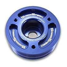 Grimmspeed Lightweight Crank Pulley Blue - Subaru All EJ Engines by GrimmSpeed