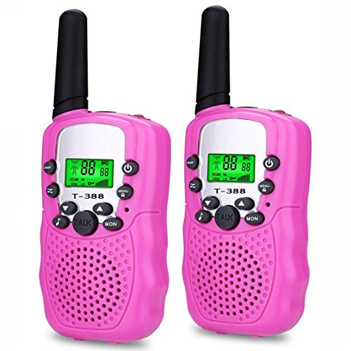Toys for 3-12 Year Old Girls, DIMY Walkies Talkies for Kids Girls Toys Age 3-12 Year Old Girl Outdoor Toys for Kids Pink (Toys For 7 Year Girl)