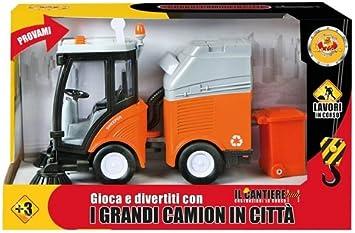 DE. CAR camion pulisci strade bo luci e suoni H18 x L 30 cm