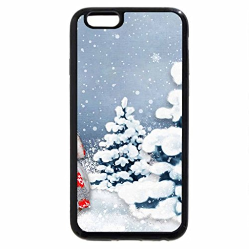 iPhone 6S Case, iPhone 6 Case (Black & White) - Warm Winter Snowman