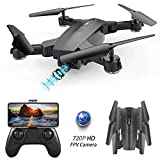 BEEYEO Drone with Camera for Adult 720P HD Wi-Fi Double Camera Live Video Feed Quadcopter for Kids & Beginners Optical Flow Positioning Quadcopter-Altitude Hold One Key Start Foldable