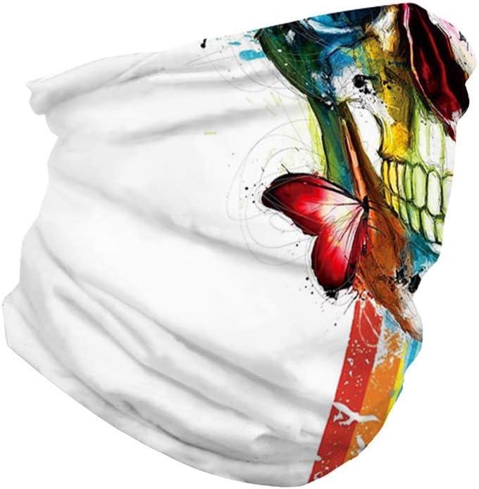 Schlauchschal Schlauchtuch Neckwarmer Halstuch aus Mikrofaser Bandana Multifunktionstuch Ghost Muster f/ür Motorrad Fahrrad Ski Paintball Gamer Karneval Kost/üm