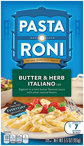 (Pasta Roni Butter & Herb Italiano Rigatoni Mix, 5.5 oz, (Pack of 12 Boxes))