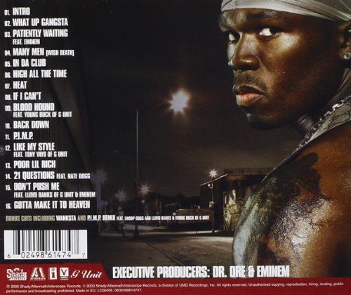Original album cover of Get Rich Or Die Tryin' by 50 CENT