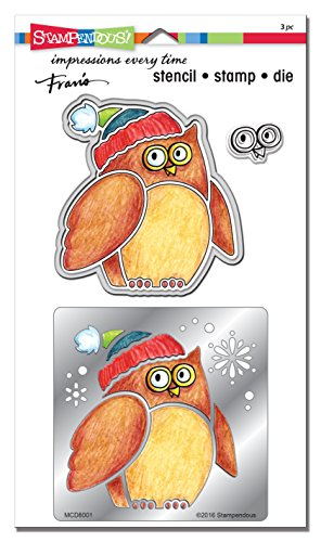 STAMPENDOUS Winter Owl Metal Stencil/Die/Stamp Set]()