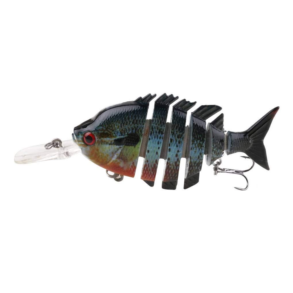 10cm / 12,7 g Lifelike Multijointed leurres de pêche Faux Poissons appâts Topwater Vivid Plastique Swimbait Regard