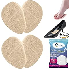✔ EXCELLENT ARTIFICIAL FAT PAD:  The super soft gel foot pads help to reduce the pressure on the toes and metatarsal, provide maximum comfort for the sensitive tissue of your foot, and relieve ball of foot pain rapidly and effectively. These ...