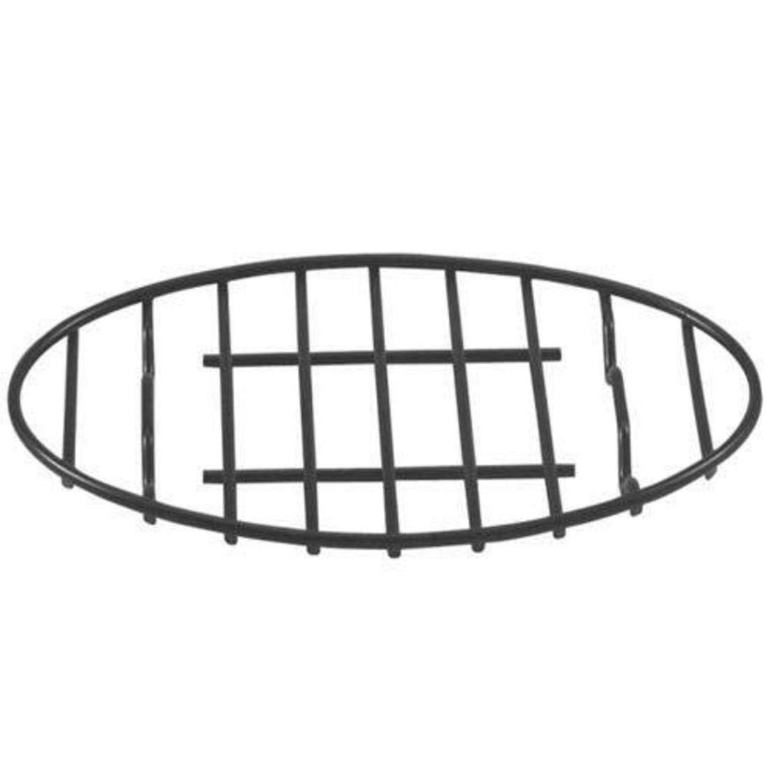 GOURMEX Oval Roasting Rack with Integrated Feet, Black, Non-Stick Whitford Coating, PTFE-Free | Oven and Dishwasher Safe | Ideal for Cooking, Roasting, Drying, Grilling (6x9'') by GOURMEX