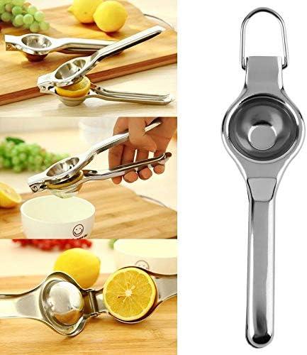 AOBAMA exprimidor Limon, Exprimidor Manual de Barra de Cocina de limón y Naranja de Acero Inoxidable