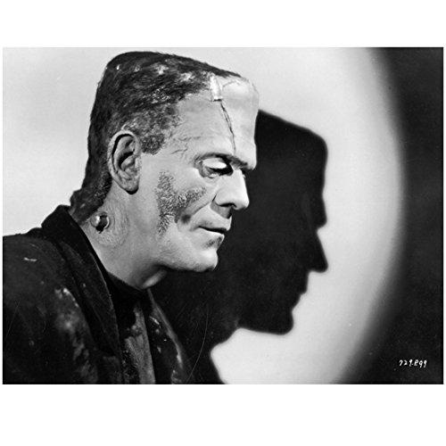Profile Silhouette - Boris Karloff asThe Monster profile with silhouette 8 x 10 Inch Photo