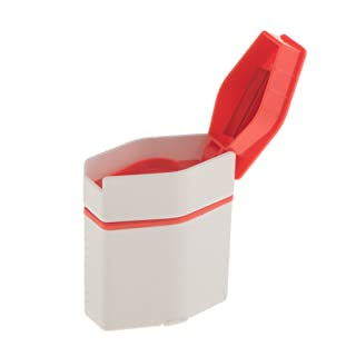 MagiDeal 3-en-1 Caja de Almacenaje Organizador de Medicina Estuche de Viaje de Tableta con Trituradora de Pastillas de Polvo
