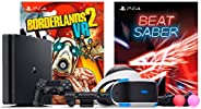 Playstation Beat Saber with Borderlands 2 VR Console Bundle: Playstation 4 Slim 1TB Gaming Console with PSVR B