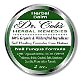 Dr. Cole's Organic Nail Fungus Treatment – Extra Strength, Herbal, Anti-fungus Treatment for Finger nails & Toenails – Disinfects & Repairs, Thick, Cracked, Flakey Nails – Safe for the Whole Family