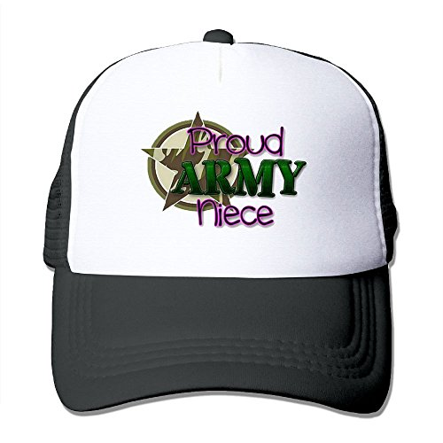 ZhiqianDF Mens Proud ARMY Niece Cool Football Black Mesh Cap Hat Adjustable - Lauren Sun Polo Visor Ralph