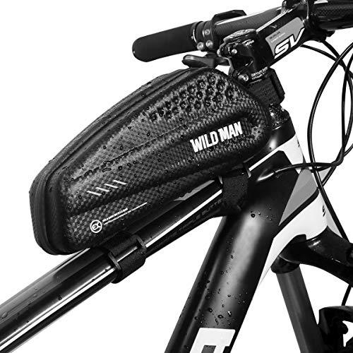 JOSPOWER Bicycle Top Tube Bag Bicycle Frame Bag Reflective Waterproof and Stable Bike Frame Bag Bike Bag Professional Anti-Pressure Handlebar Bags Cycling Accessories