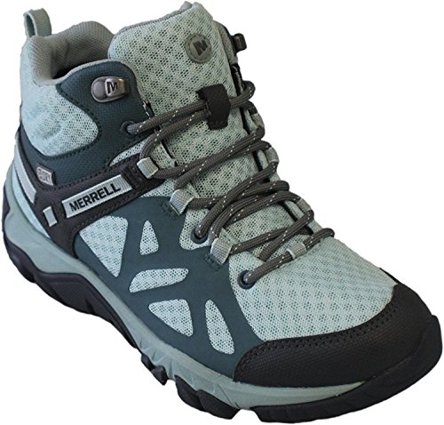 Merrell Womens Outright Edge Mid Waterproof Hiking Boot  5 B M  Us  Sedona Glacier