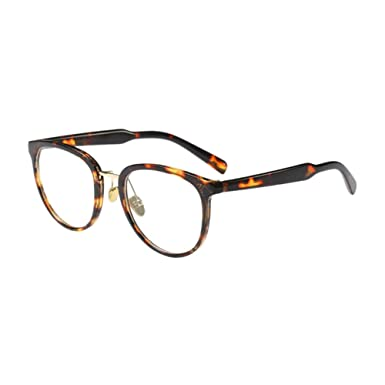 d77e9690f09 Meijunter Women Men Simple Metal Nose Pads Glasses Frame Oversized Clear  Lens Oval Frame Eyewear Cozy