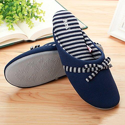 Stagioni Quattro Colore Blu Cotone Antiscivolo Dimensioni 38 Pantofole Grigio Home 39 Donna E Morbide A Zhirong In Casual x0Hw1qg8S