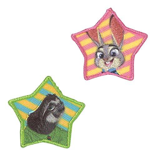 ミノダ Disney ズートピアワッペン小 ジュディとフラッシュ 小 D01Y0934の商品画像