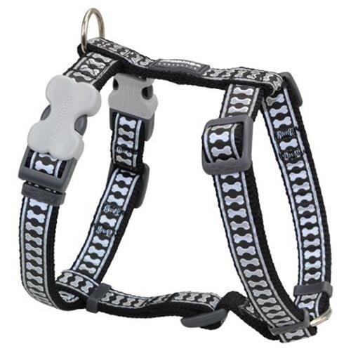 Red Dingo Reflective Dog Harness, X-Large, Black