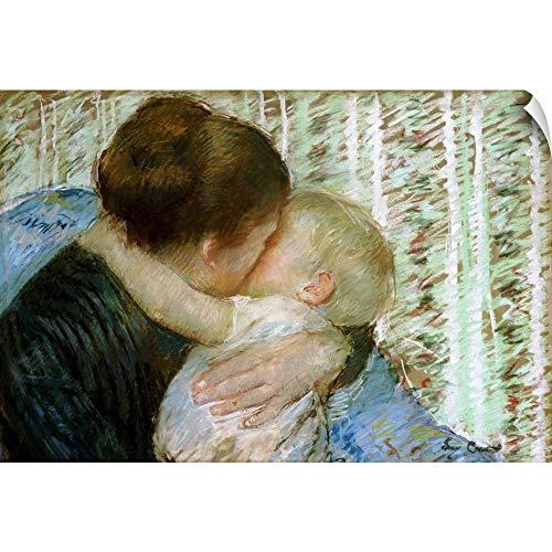 CANVAS ON DEMAND Mary Cassatt Wall Peel Wall Art Print Entitled A Goodnight Hug 18