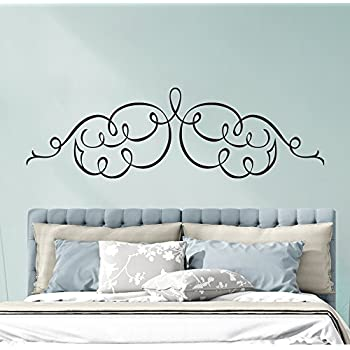 Queen Bed Frame Post Scroll Style Headboard Removable
