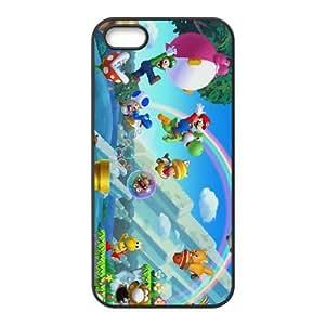 iPhone 5 5s Cell Phone Case Black New Super Mario Bros. U 006 Ksxpt