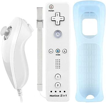 COOLEAD 2 en 1 Motion Plus Mando a Distancia y Nunchuk para Wii y ...