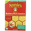 Annie's Homegrown Organic Bunny Classic Crackers Buttery Rich, 6.5 Ounce Boxes (Pack of 6)