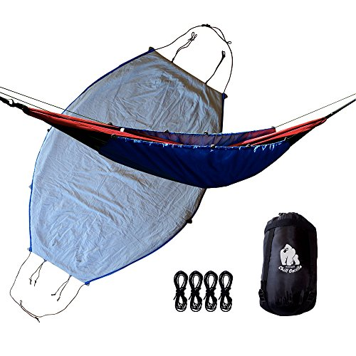Price comparison product image CHILL GORILLA 40°F HAMMOCK UNDERQUILT BLANKET. Lightweight Fits All Camping Hammocks. Under Quilt Keeps You Warmer, Saves Space & Versatile. Camping Backpacking and Survival Gear. Eno Accessory BLUE