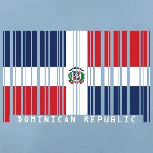 Dominican Republic / Dominikanischen Republik Barcode Flagge - Herren T-Shirt - Himmelblau - S