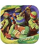 Teenage Mutant Ninja Turtles 7 in Square Plate, Pack of 8, Party Supplies
