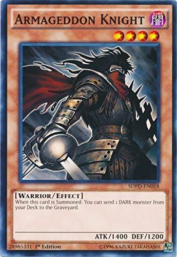 Armageddon Knight Common 1st Edition Yugioh Card SDPD-EN018